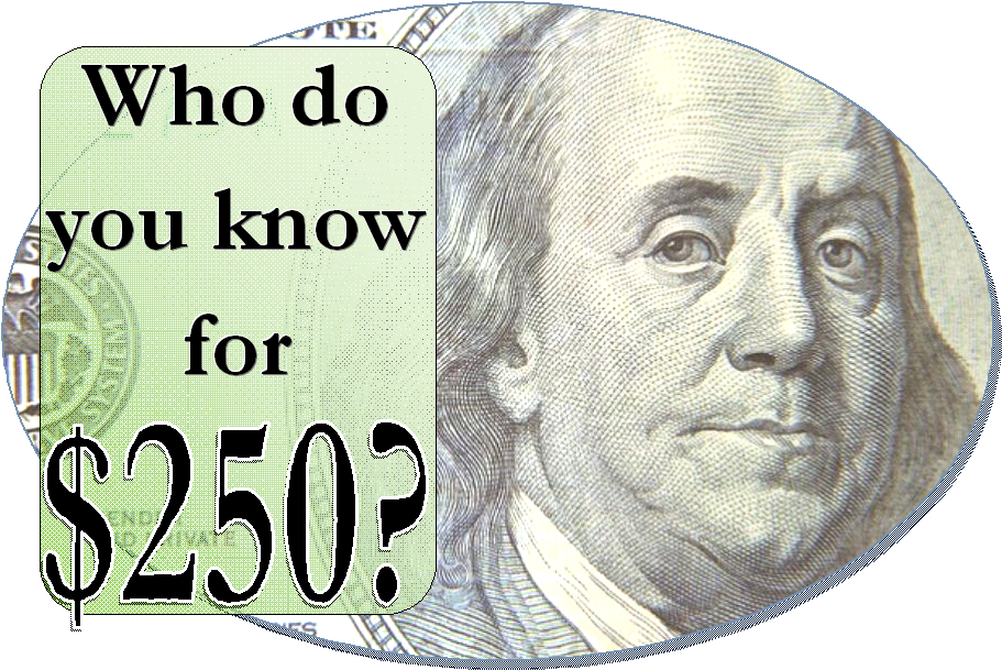 Who do you know for 250 2