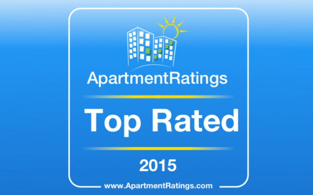 Top Rated in 2015 by ApartmentRatings.com!
