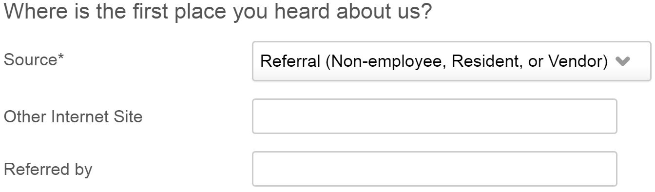 employee referral program - referral selection