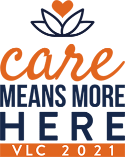 Venterra's 2021 Virtual Leadership Conference - Care Means More Here Logo