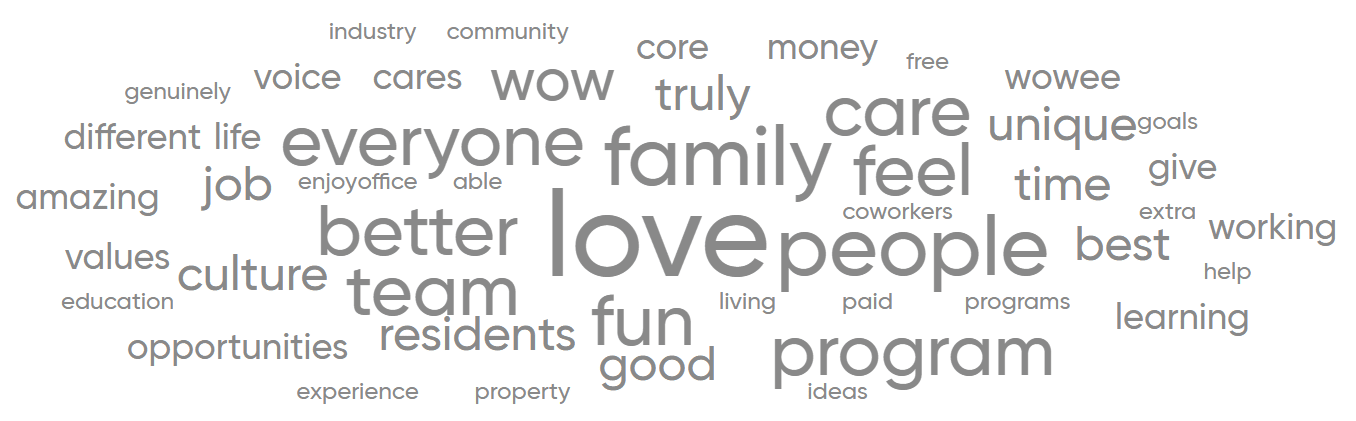 Great Place to Work® Survey - Employee Feedback Word Cloud