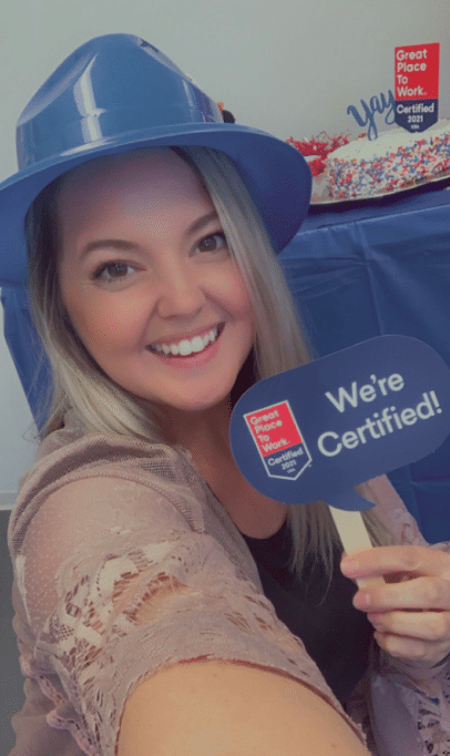 Great Place to Work® Certification Nation Day 2021 - Monica Selfie